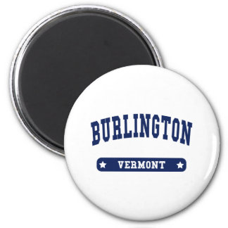 Burlington Vermont College Style t shirts Magnet