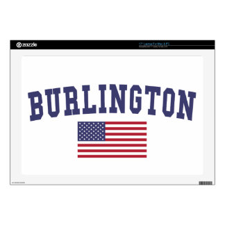 "Burlington VT US Flag 17"" Laptop Skin"