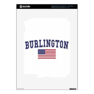 Burlington VT US Flag iPad 3 Skins