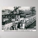 Burlington Zephyr Deco Train 1934 Vintage Poster