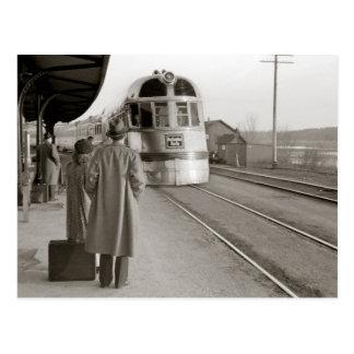 Burlington Zephyr Train, 1940 Postcard