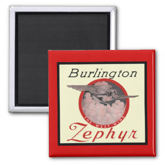 Burlington Zephyr Train Magnet