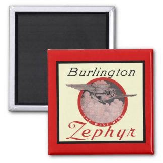 Burlington Zephyr Train Magnets