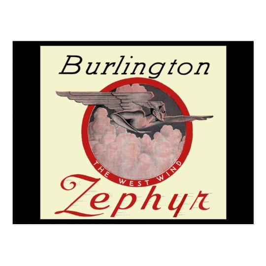Burlington Zephyr Train Postcard