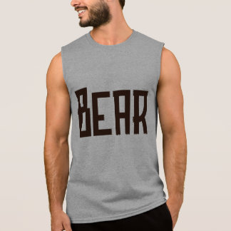 Burly Bear Sleeveless Workout Tee