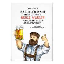 Burly Beer Drinker Invitation