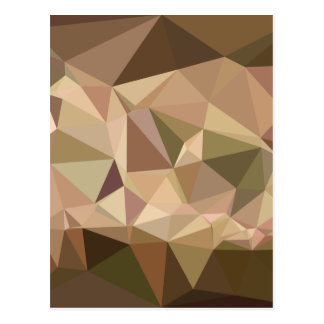 Burlywood Abstract Low Polygon Background Postcard