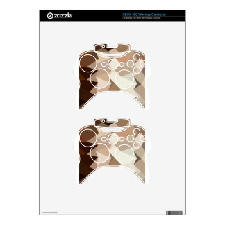 Burlywood Brown Abstract Low Polygon Background Xbox 360 Controller Decal