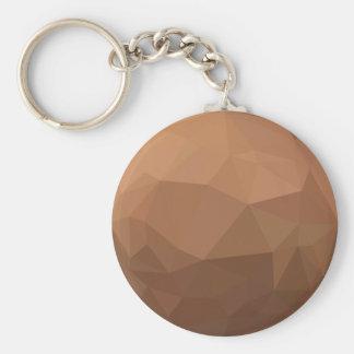 Burlywood Goldenrod Abstract Low Polygon Backgroun Keychain
