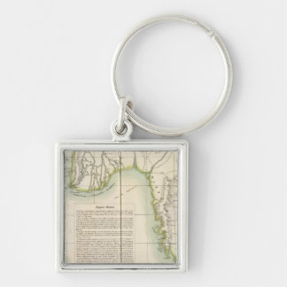 Burma 104 Silver-Colored square keychain