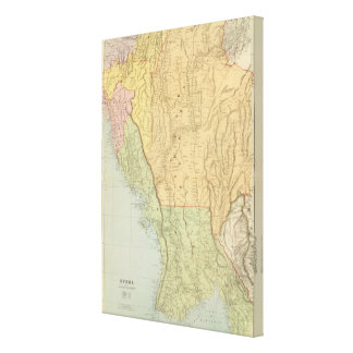 Burma and adjacent countries gallery wrap canvas
