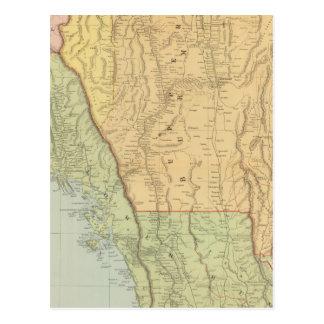 Burma and adjacent countries postcard