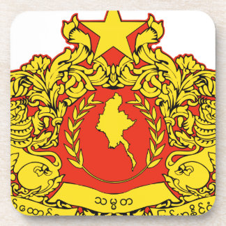 Burma Coat of Arms Drink Coaster