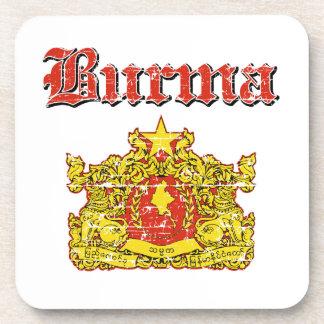 Burma coat of arms designs drink coasters