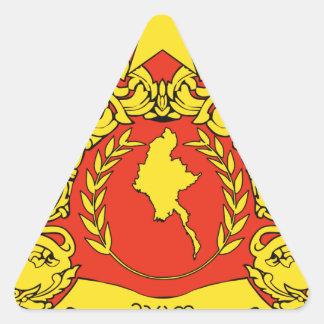 Burma Coat of Arms Triangle Sticker