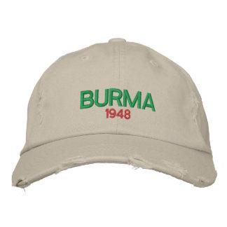 Burma Custom Distressed Baseball Cap