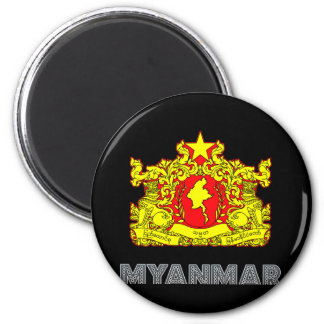 Burma Emblem 2 Inch Round Magnet