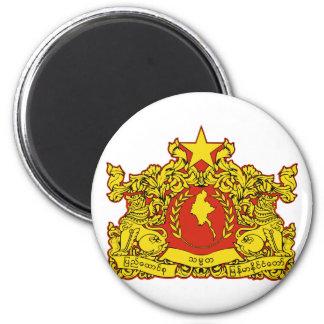 burma emblem magnet