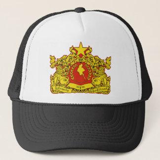 burma emblem trucker hat