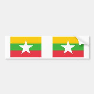 Burma Flag Bumper Sticker
