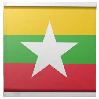 Burma Flag Cloth Napkin