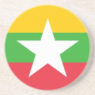 Burma Flag Drink Coaster