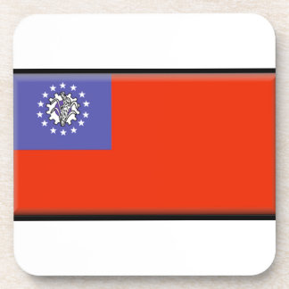 Burma Flag Drink Coasters