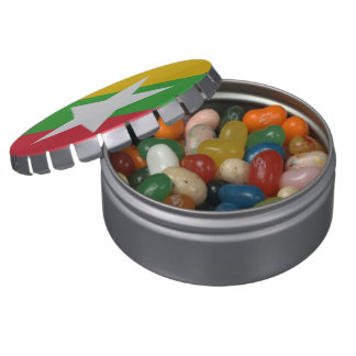 Burma Flag Jelly Belly Tins