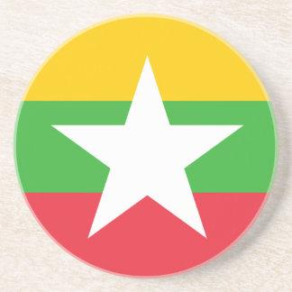 Burma Flag; Myanmar Drink Coasters