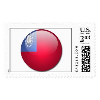burma flag postage