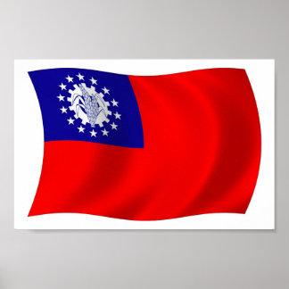Burma Flag Poster Print