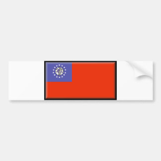 Burma (Myanmar) Flag Bumper Sticker