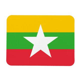 Burma / Myanmar Flag Rectangular Photo Magnet