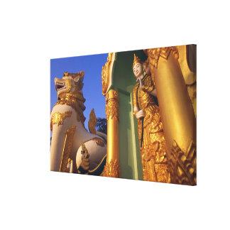 Burma (Myanmar), Rangoon (Yangon) Temple Stretched Canvas Prints
