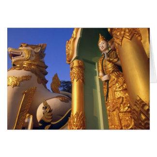 Burma (Myanmar), Rangoon (Yangon) Temple Greeting Cards