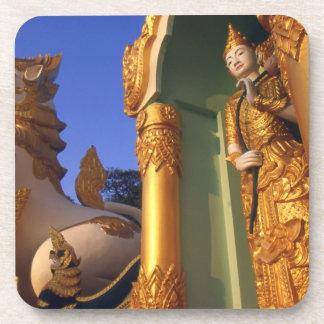 Burma (Myanmar), Rangoon (Yangon) Temple Drink Coaster
