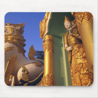 Burma (Myanmar), Rangoon (Yangon) Temple Mousepad