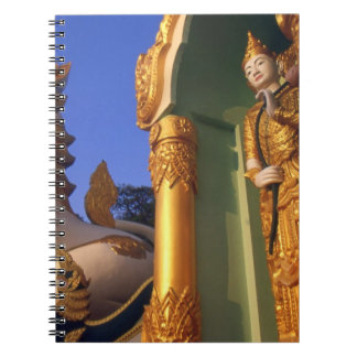 Burma (Myanmar), Rangoon (Yangon) Temple Spiral Notebook