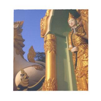 Burma (Myanmar), Rangoon (Yangon) Temple Notepad
