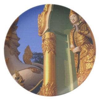 Burma (Myanmar), Rangoon (Yangon) Temple Plates