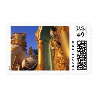 Burma (Myanmar), Rangoon (Yangon) Temple Postage Stamp