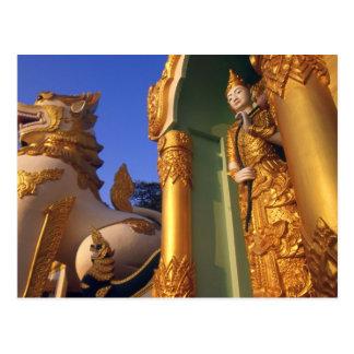 Burma (Myanmar), Rangoon (Yangon) Temple Postcard