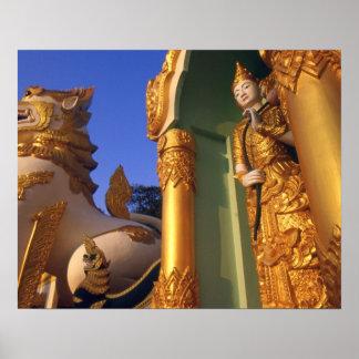 Burma (Myanmar), Rangoon (Yangon) Temple Print