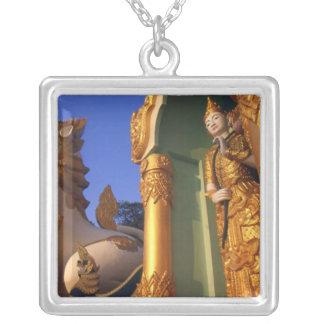 Burma (Myanmar), Rangoon (Yangon) Temple Silver Plated Necklace