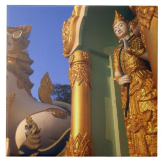 Burma (Myanmar), Rangoon (Yangon) Temple Ceramic Tiles