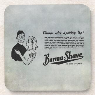Burma Shave Adoring Eyes Beverage Coaster