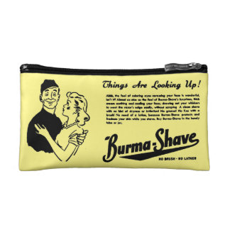 Burma Shave Adoring Eyes Cosmetic Bag