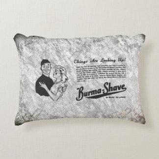 Burma Shave Adoring Eyes Decorative Pillow