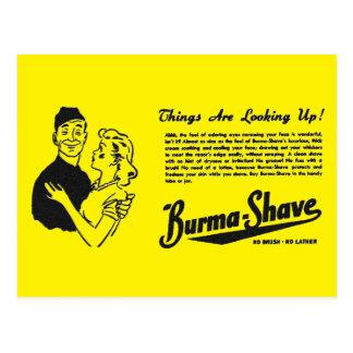 Burma Shave Adoring Eyes Postcard