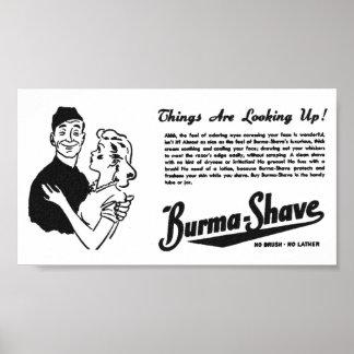 Burma Shave Adoring Eyes Poster